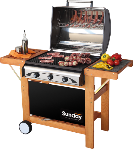profy 3 sunday grills barbecue mcz garden. Black Bedroom Furniture Sets. Home Design Ideas