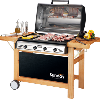 profy 4 sunday grills barbecue mcz garden. Black Bedroom Furniture Sets. Home Design Ideas