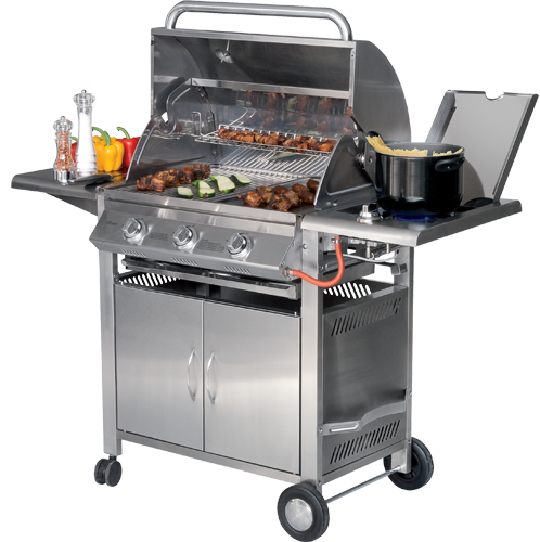 Texas 3 sunday grills barbecue mcz garden - Grille de barbecue en inox ...